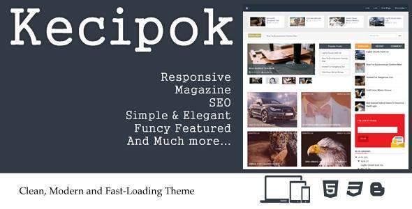 10+ Mẫu theme blogspot theo phong cách blog Tin tức / blog Tạp chí 2