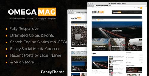 10+ Mẫu theme blogspot theo phong cách blog Tin tức / blog Tạp chí 3