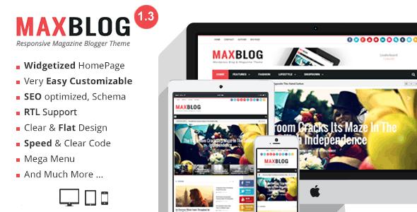 10+ Mẫu theme blogspot theo phong cách blog Tin tức / blog Tạp chí 7
