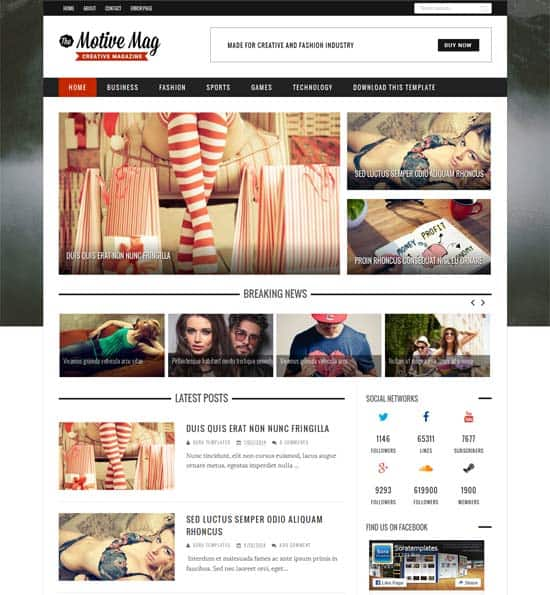 25+ Responsive Theme Free For Blogger 14