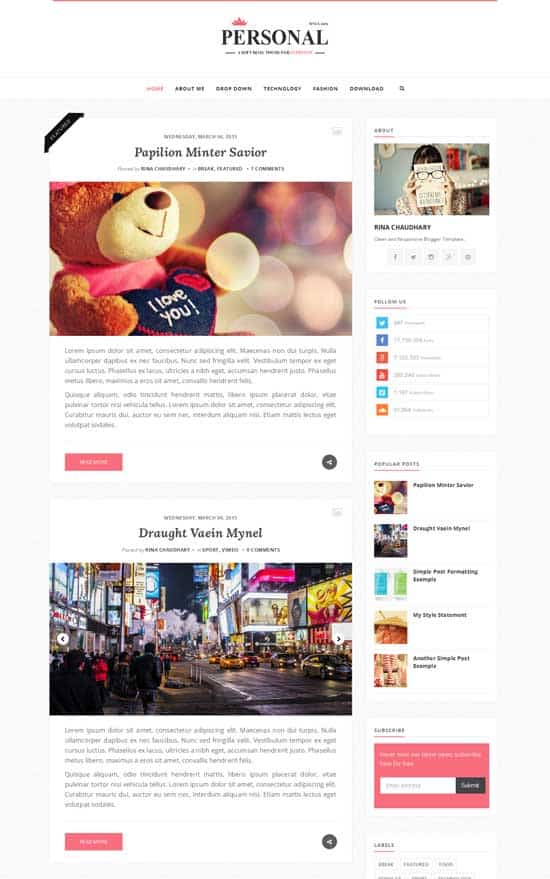 25+ Responsive Theme Free For Blogger 15
