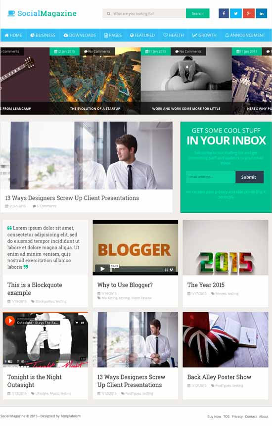 25+ Responsive Theme Free For Blogger 17