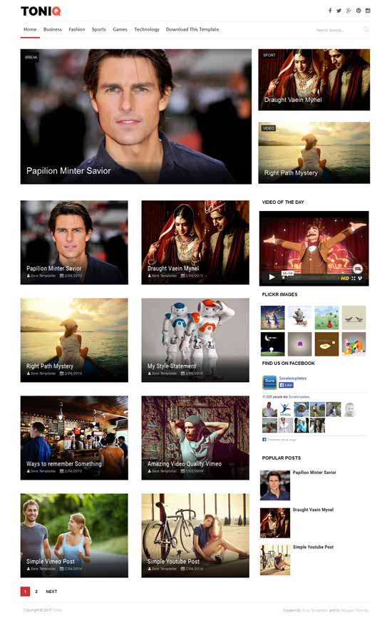 25+ Responsive Theme Free For Blogger 22