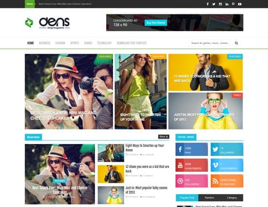 25+ Responsive Theme Free For Blogger 1