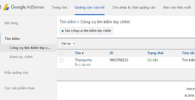 Tạo Hộp Tìm Kiếm Google Tùy Chỉnh 1