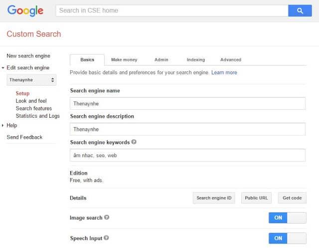 Tạo Hộp Tìm Kiếm Google Tùy Chỉnh