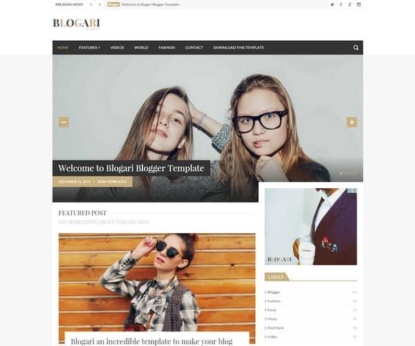 Mẫu Template Blogger Đẹp và Miễn Phí 3