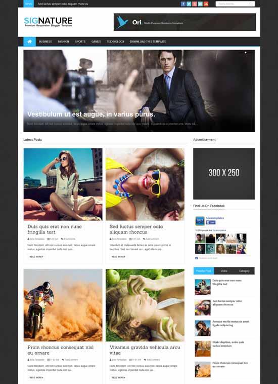 Mẫu Theme Blogger Đẹp Miễn Phí 34