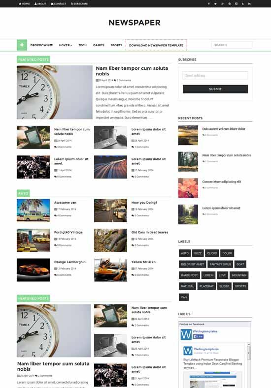 Mẫu Theme Blogger Đẹp Miễn Phí 36