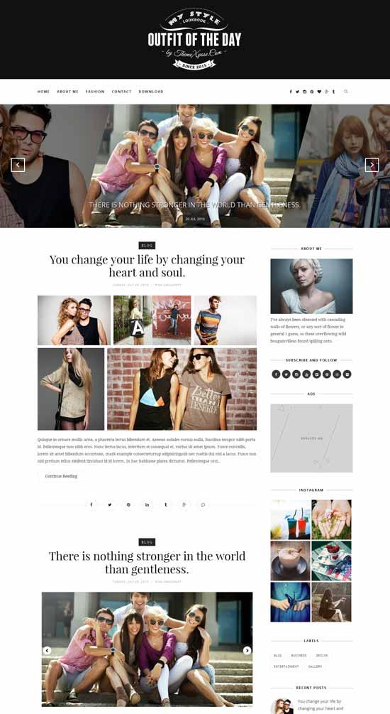 Mẫu Theme Blogger Đẹp Miễn Phí 23
