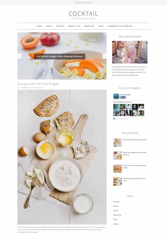 Mẫu Theme Blogger Đẹp Miễn Phí 28