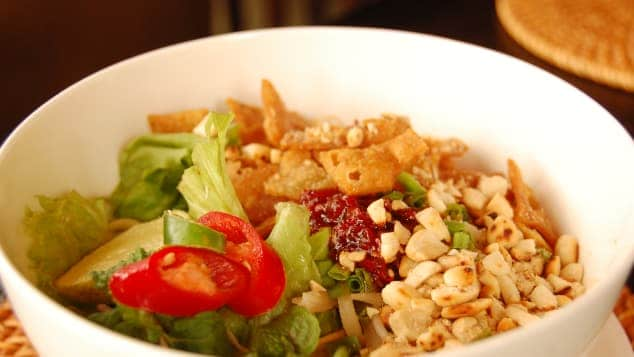 Cao lau -- one of Vietnam's most popular dishes.